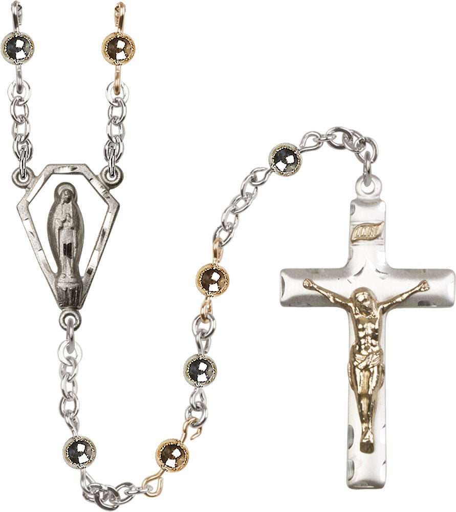 Image of  6mm Sterling Silver Round  Rosary