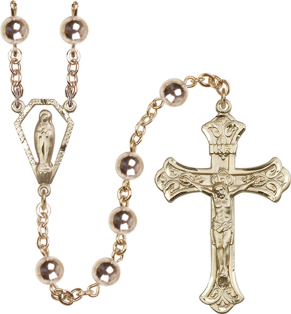 Image of  7mm Gold Filled Round  Rosary