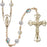 Image of  7mm Crystal Swarovski, Capped our Father  Rosary