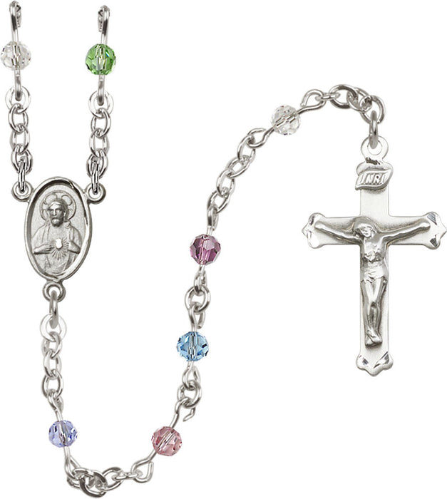 multi_color_sterling_silver_rosary_