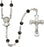 5mm Black Swarovski Sterling Silver Rosary