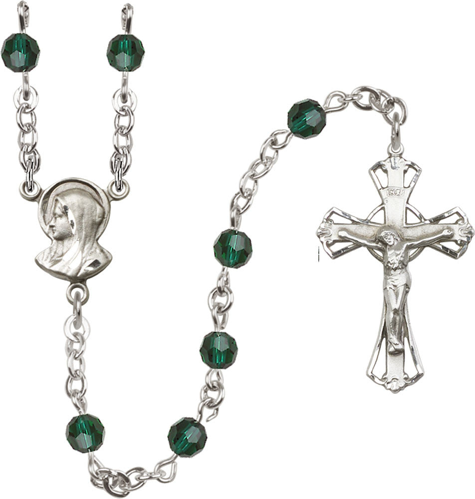 Image of  5mm Emerald Swarovski  Rosary