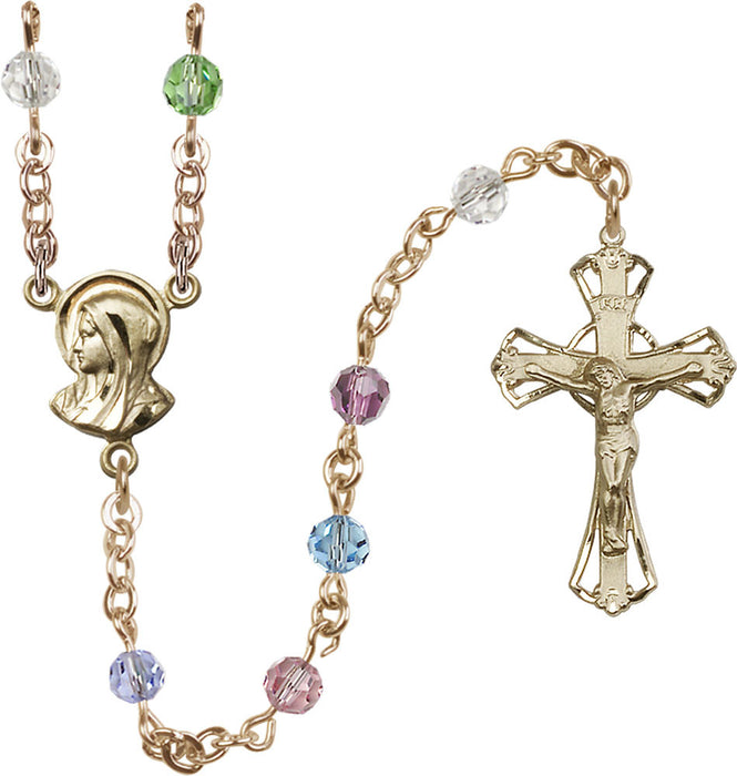5mm_multi_color_14kt_gold_filled_rosary