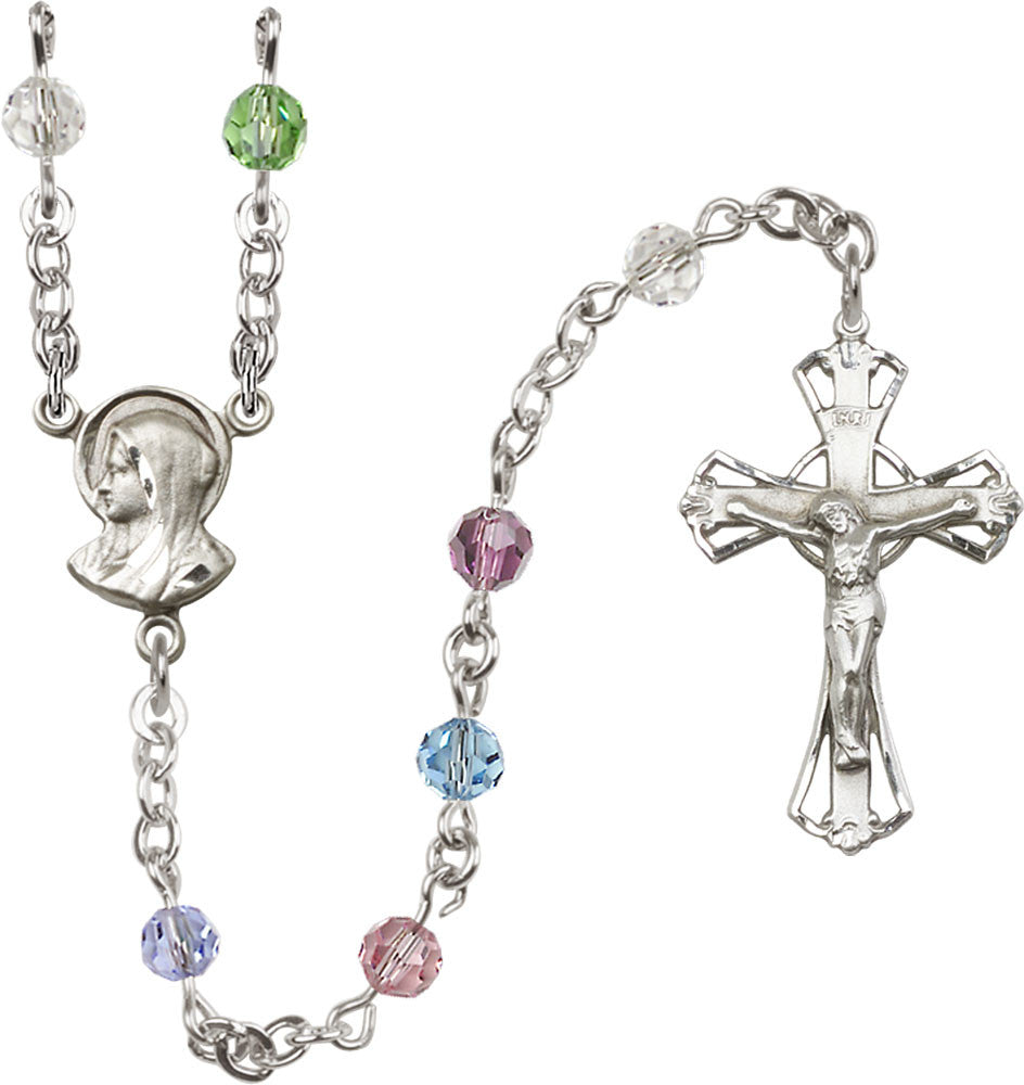 5mm_multi_color_sterling_silver_rosary