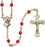 Image of  5mm Ruby Swarovski  Rosary