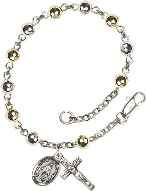Sterling Silver & Gold Filled Rosary Bracelet - 4mm beads