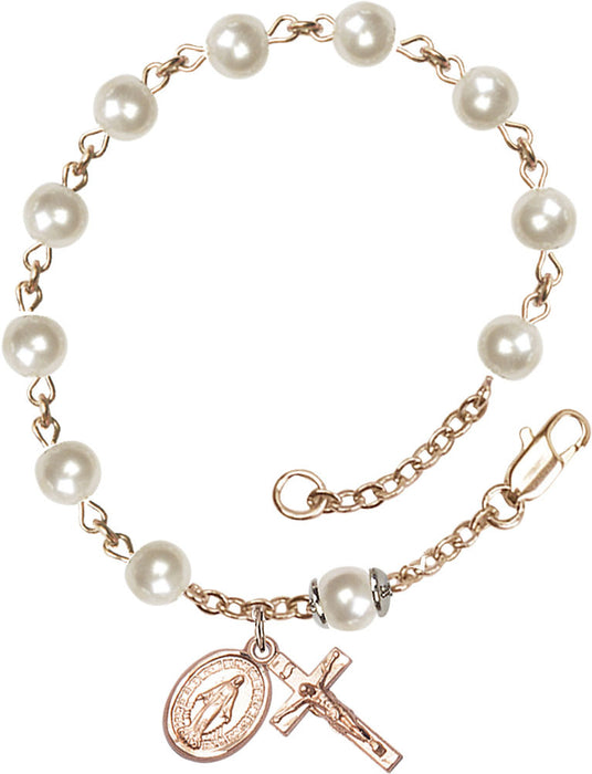 faux_pearl_gold_rosary_bracelet