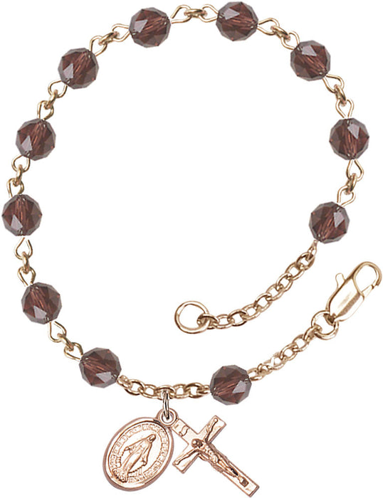 burgundy_gold_filled_rosary_bracelet