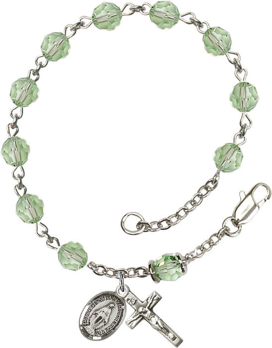 chrysolite_our_father_sterling_silver_rosary_bracelet