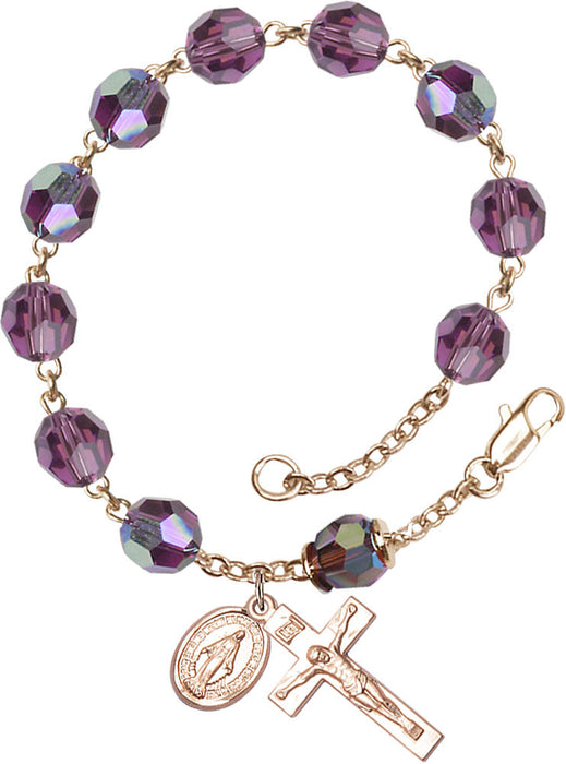 amethyst_our_father_gold_rosary_bracelet