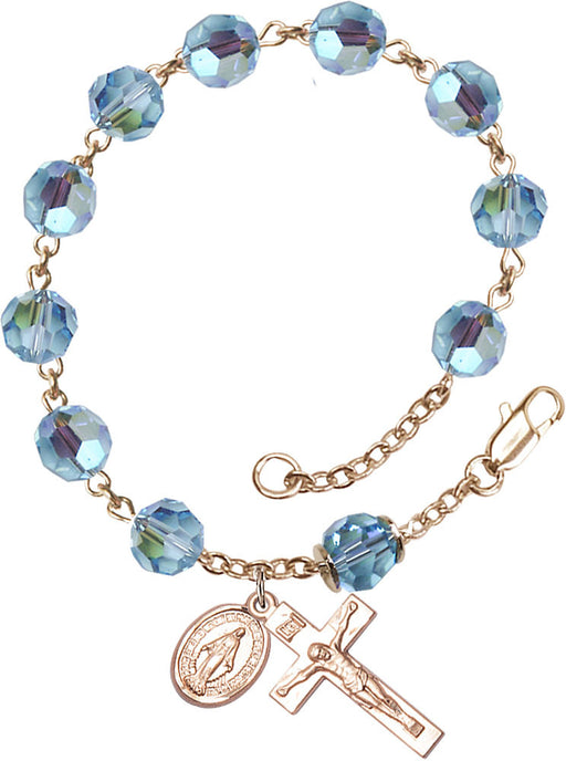 aqua_our_father_gold_rosary_bracelet