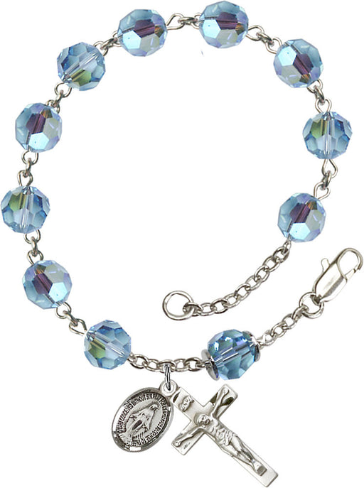 aqua_our_father_sterling_silver_rosary_bracelet
