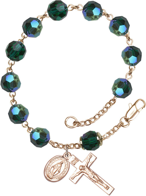 emerald_our_father_gold_rosary_bracelet