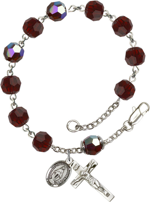 garnet_our_father_sterling_silver_rosary_bracelet