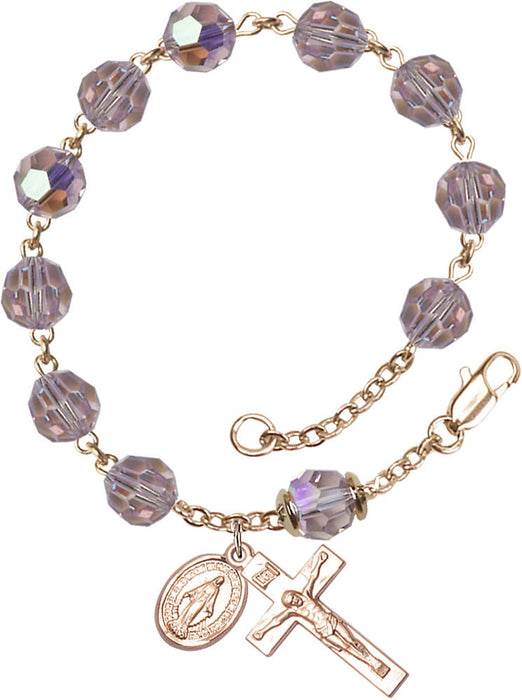 light_amethyt_our_father_gold_filled_rosary_bracelet