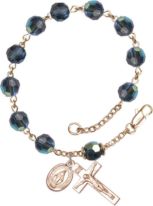 montana_blue_our_father_gold_filled_rosary_bracelet