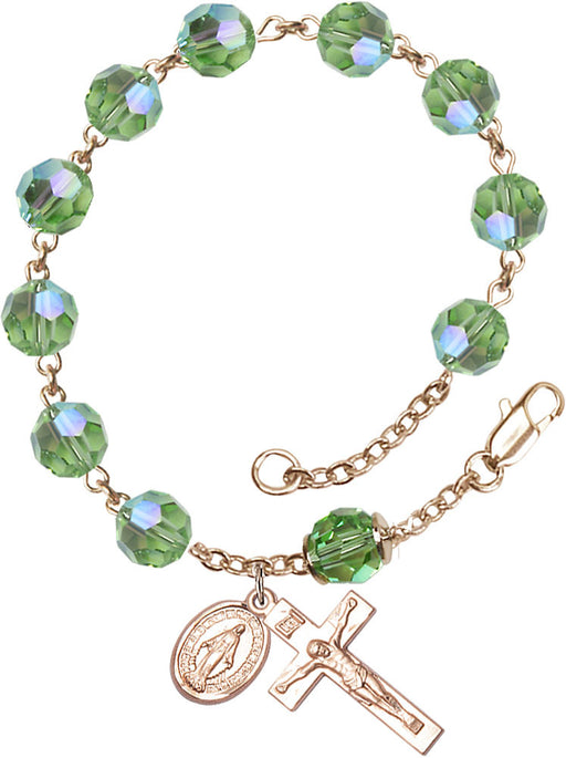 peridot_our_father_gold_filled_rosary_bracelet