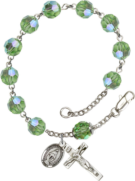 peridot_our_father_sterling_silver_rosary_bracelet