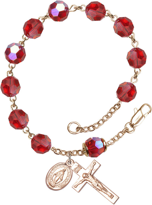 ruby_our_father_gold_rosary_bracelet
