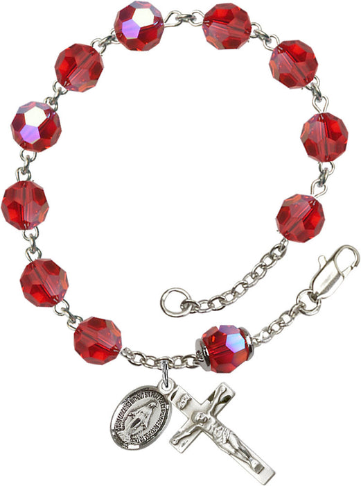 ruby_our_father_sterling_silver_rosary_bracelet
