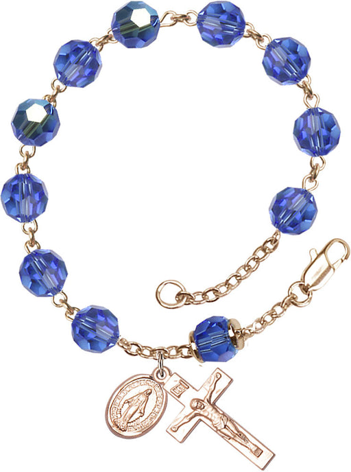 sapphire_our_father_gold_filled_rosary_bracelet