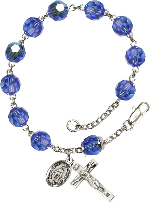 sapphire_our_father_sterling_silver_rosary_bracelet