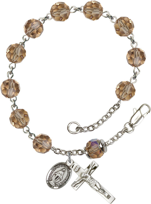 topaz_our_father_sterling_silver_rosary_bracelet