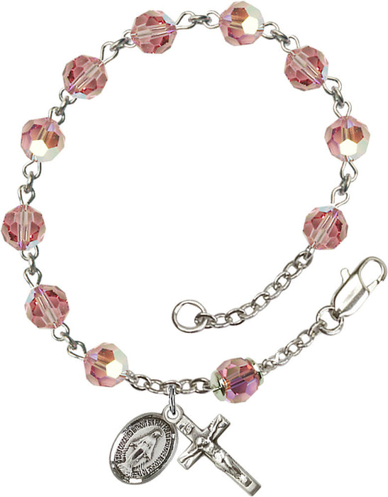 light_rose_sterling_rosary_bracelet