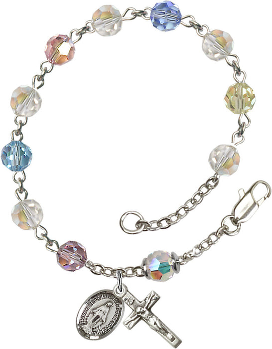 multi_color_sterling_silver_rosary_bracelet