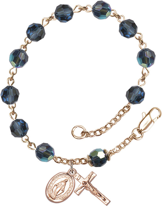 metalic_blue_gold_rosary_bracelet