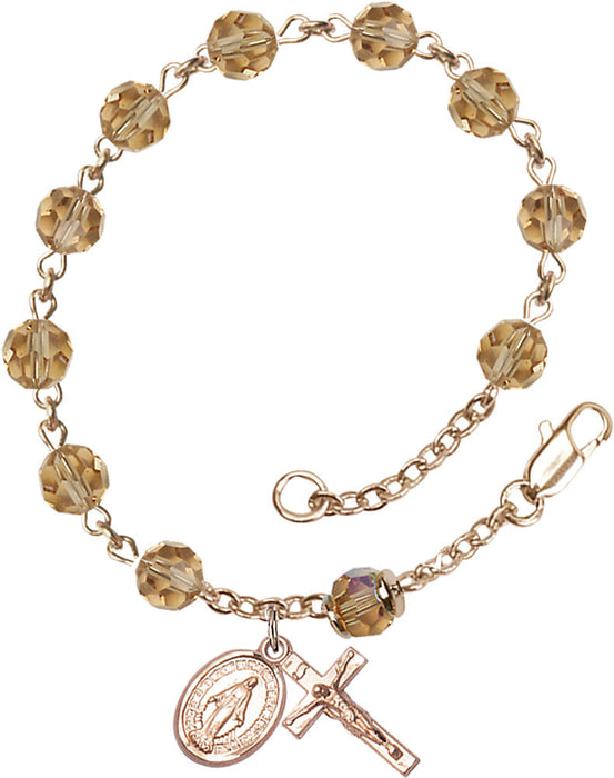 topaz_gold_filled_rosary_bracelet