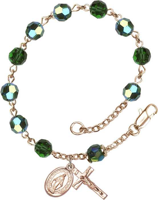 tourmaline_gold_filled_rosary_bracelet
