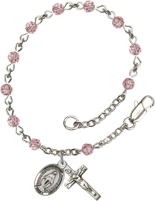 light_rose_sterling_silver_rosary_bracelet