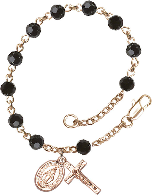 black_gold_filled_rosary_bracelet