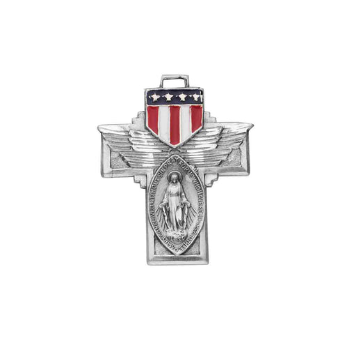 Miraculous Military Cross - Winged Sterling Silver Medal
