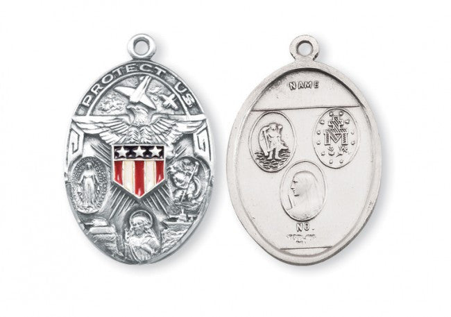 Military Sterling Silver Medal