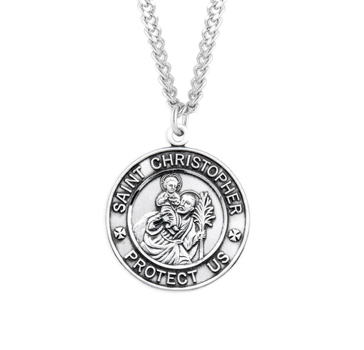 St. Christopher Sterling Silver Military Medal