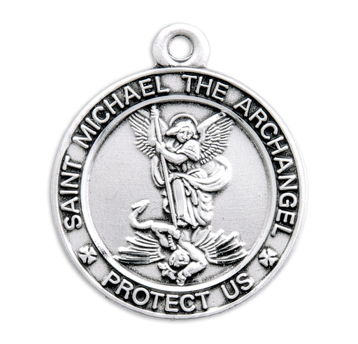 St. Michael Sterling Silver Oval Medal