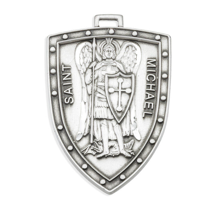 St. Michael Sterling Silver Shield Medal
