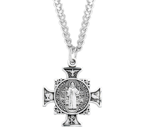 Sterling Silver St. Benedict Cross Medal
