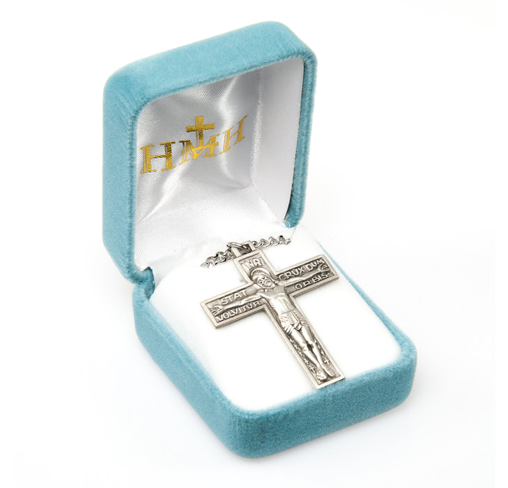 Crucifix of the Passion Sterling Silver Pendant - Stat Crux Dum Volvitur Orbis