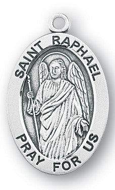 Sterling Silver Oval Shaped St. Pio Medal