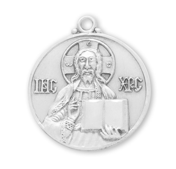 Sterling Silver Christ the Teacher Medal