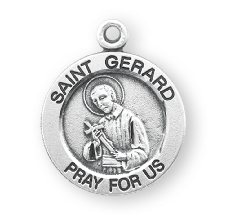 St. Gerard Sterling Silver Round Medal