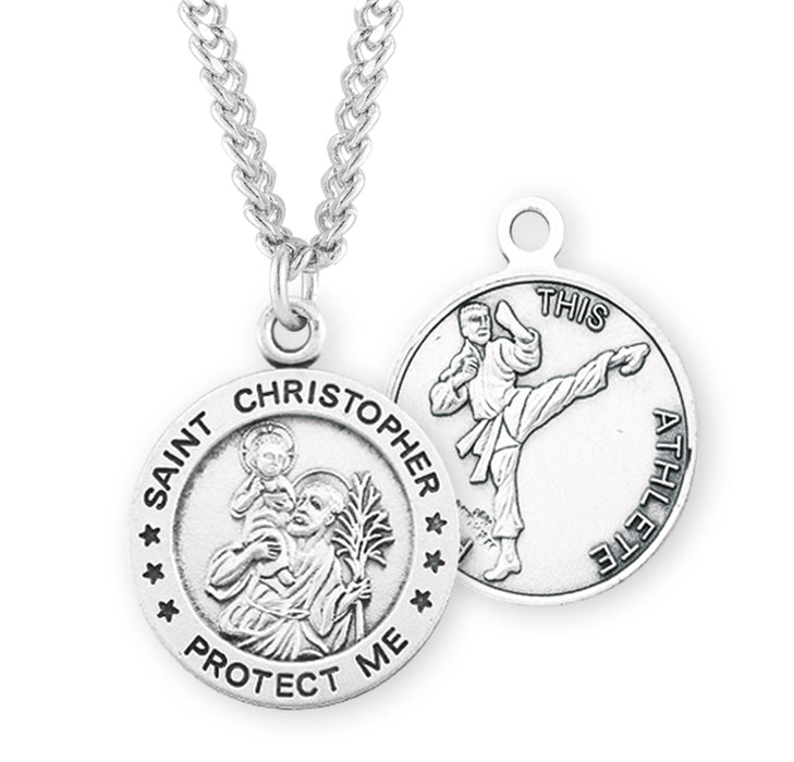 St. Christopher Sterling Silver Martial Arts Medal