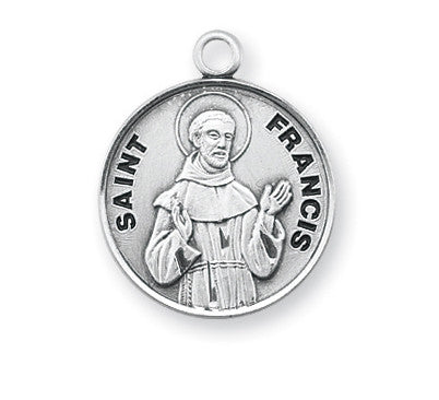 2a45968ed61 St. Francis of Assisi Sterling Silver Round Medal — Catholic Online ...