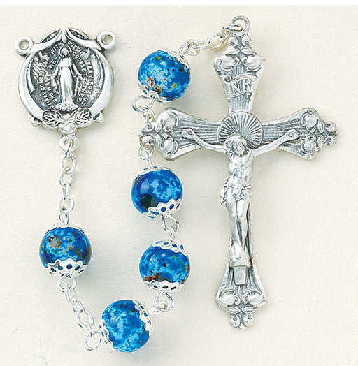 blue_marble_glass_sterling_rosary