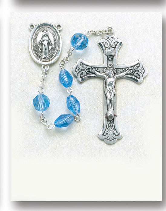 light_sapphire_oval_tin_cut_sterling_rosary