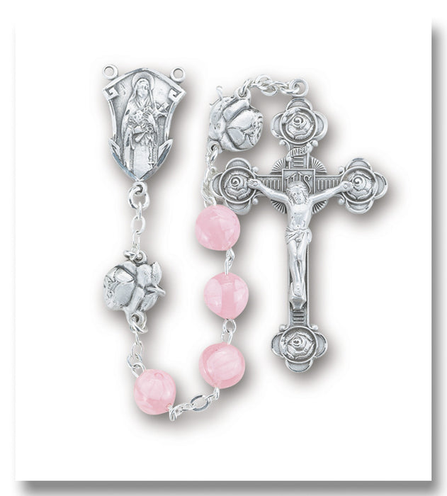 pink_flowered_glass_sterling_rosary