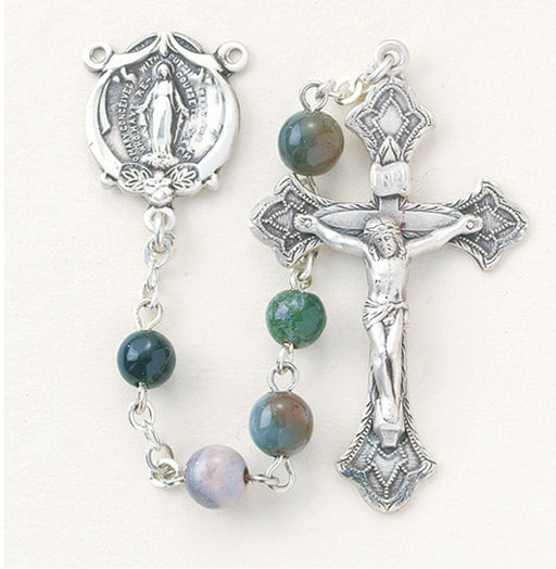 round_india_agate_sterling_rosary
